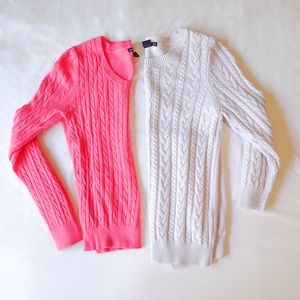 H&M Scoopneck Long Sleeve Cable Sweater